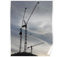 Aircraft/Cranes -(310712)- digital photo Poster