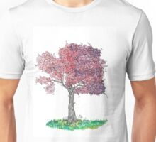 Watercolor Blooming Tree Unisex T-Shirt