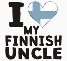I Heart My Finnish Uncle Kids Tee