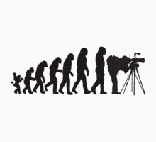 Male Photographer Evolution Tee Shirt by CroDesign