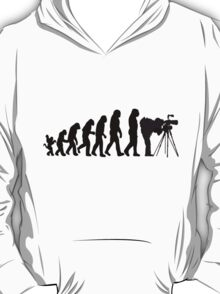 Male Photographer Evolution Tee Shirt T-Shirt