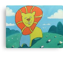 sunshine lion Canvas Print