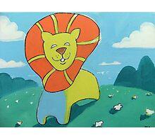 sunshine lion Photographic Print