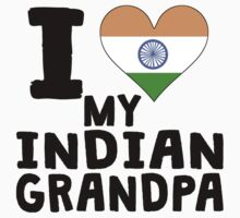 I Heart My Indian Grandpa Kids Tee