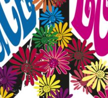 Flower Power Peace & Love Hippie  Tee Shirt Sticker