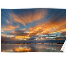 Sunrise Clouds - Geelong Poster