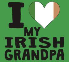 I Heart My Irish Grandpa Kids Tee