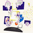 Night Drawings - Les Dessins de Nuit n°20  - Jeux de mains by Pascale Baud