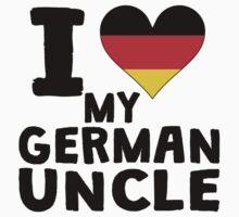 I Heart My German Uncle Kids Tee