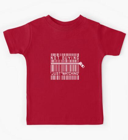 Funny Anti Shopping Bar Code Zipper Funny T-Shirt / Pillow / Tote Bag Kids Tee