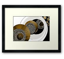 Textured Abstract - Unexplained Framed Print