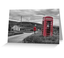 Old telephone box Isle of Skye Greeting Card