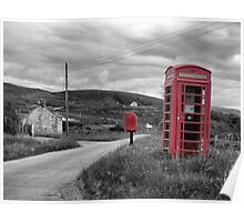 Old telephone box Isle of Skye Poster
