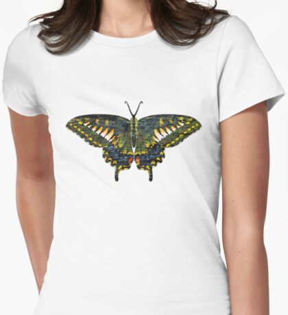 Butterfly Art Womens Fitted T-Shirt