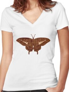 Butterfly Art 3 Women's Fitted V-Neck T-Shirt