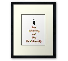 "Peter Pan ""Stay Calm"" Framed Print"