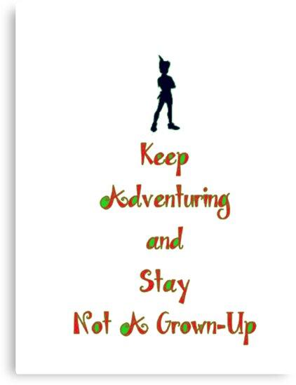 "Peter Pan ""Stay Calm"" by Noah  Waters"