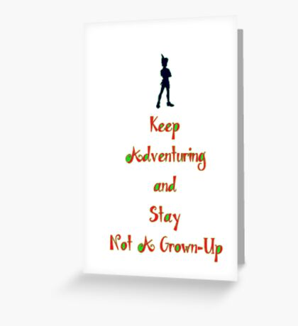"""Peter Pan """"Stay Calm"""" Greeting Card"""
