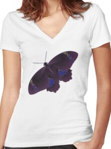 Butterfly Art 7 Women's Fitted V-Neck T-Shirt