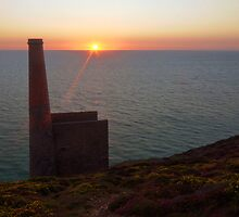 Sunset at Wheal Coates by mattdspics