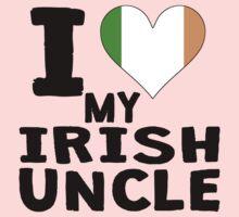 I Heart My Irish Uncle One Piece - Long Sleeve