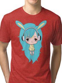 Cute Bunny Character Tri-blend T-Shirt