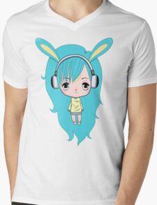 Cute Bunny Character Mens V-Neck T-Shirt