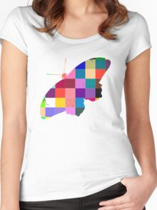 Butterfly Art 9 Women's Fitted Scoop T-Shirt