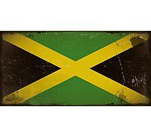 Vintage flag of Jamaica Photographic Print