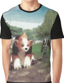 Batgirl and bear Graphic T-Shirt
