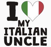 I Heart My Italian Uncle One Piece - Short Sleeve