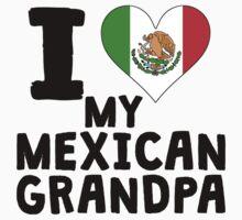 I Heart My Mexican Grandpa One Piece - Short Sleeve