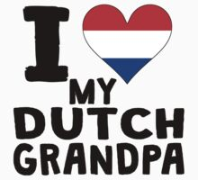 I Heart My Dutch Grandpa One Piece - Long Sleeve