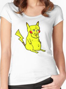 Handsome Pikachu Women's Fitted Scoop T-Shirt