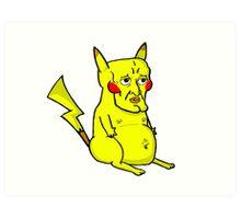 Handsome Pikachu Art Print