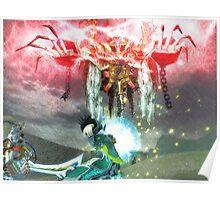 Battle magic mummy Poster