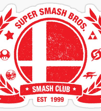Smash Club (Red) Sticker