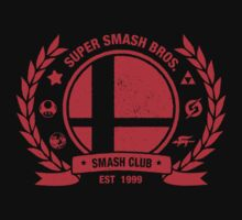 Smash Club (Red) by Bryant Almonte Design