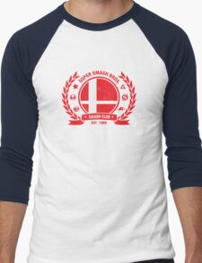 Smash Club (Red) Men's Baseball ¾ T-Shirt