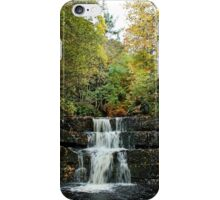 Waterfall in the Autumn woods iPhone Case/Skin