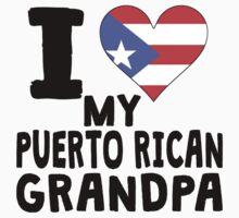 I Heart My Puerto Rican Grandpa One Piece - Short Sleeve