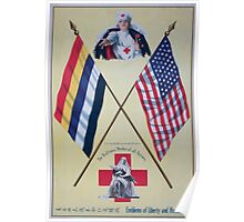 Emblems of liberty and humanity The Red Cross mother of all nations 1 Poster