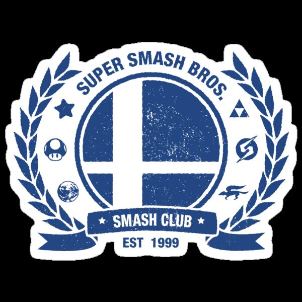 Smash Club (Blue) by Bryant Almonte Design