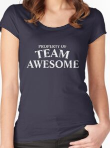 Property of team awesome Women's Fitted Scoop T-Shirt
