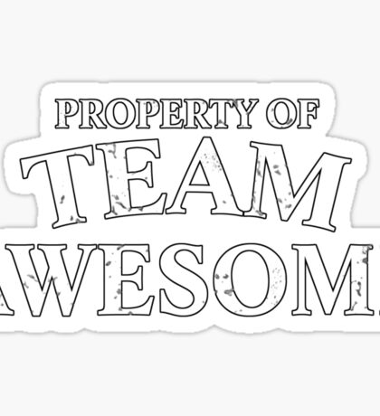 Property of team awesome Sticker