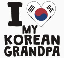 I Heart My Korean Grandpa Baby Tee