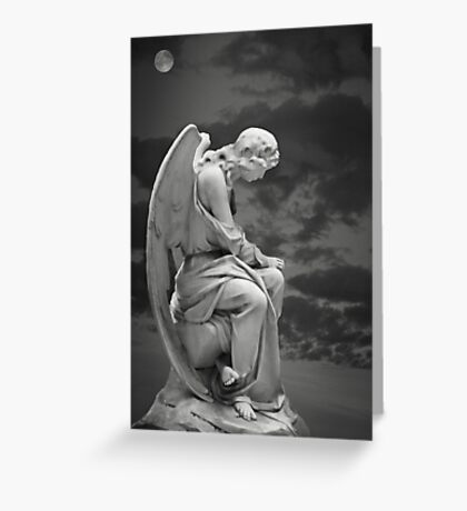 Moonlit Angel Greeting Card