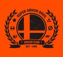 Smash Club (Black) Kids Tee