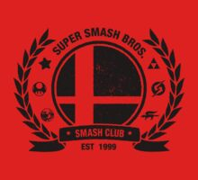 Smash Club (Black) One Piece - Short Sleeve