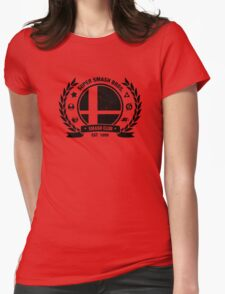 Smash Club (Black) Womens Fitted T-Shirt